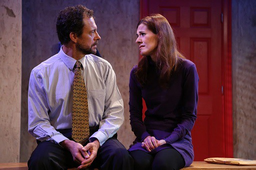 Donna (Mary Lauren) and Chris (Tony Travostino) are facing the truth about their child. Photo by Gerry Goodstein.