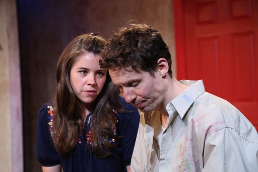 Donna (Allison Linker) and Chris (Ben Sumrall) face challenges to his art career. Photo by Gerry Goodstein.