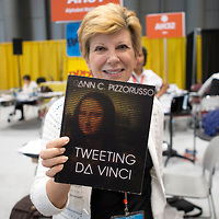 Jacob Javits Center, New York, May 31 2014 - Book Signing by Ann C Pizzorusso, TWEETING DA VINCI at the Book Expo America (BEA), the leading North American publishing event held at the Jacob Javits Center in New York On the Photo: Ann C Pizzorusso, TWEETING DA VINCI  Credit: Luiz Rampelotto/EuropaNewswire