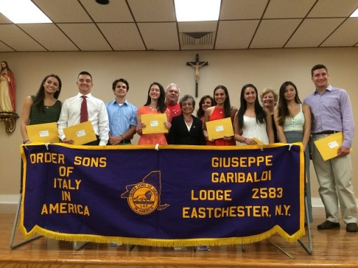 2017 winners of the various OSIA Giuseppe Garibaldi Lodge Scholarships
