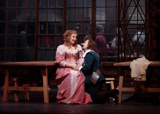 Jennifer rowley as Roxane and Roberto Alagna as Cyrano