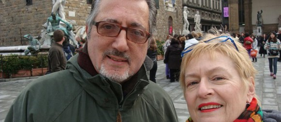 "John and Nancy Petralia,  Co-Authors of  ""Not in a Tuscan Villa"""