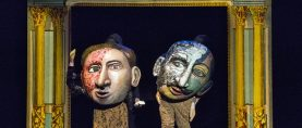 "Police Killings Portrayed with Puppets, Lifesize Books & a Lick of Lorca  STAGE REVIEW: ""There's Blood at the Wedding"" by Theodora Skipitares"