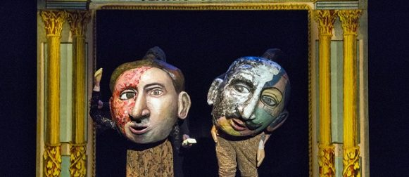 """Police Killings Portrayed with Puppets, Lifesize Books & a Lick of Lorca  STAGE REVIEW: """"There's Blood at the Wedding"""" by Theodora Skipitares"""